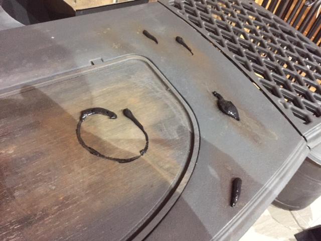 ストーブを磨きました