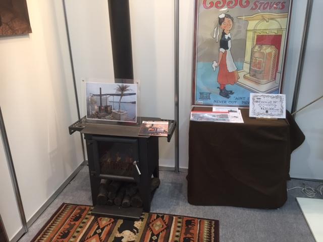 仕事でメッセ名古屋に行ったら薪ストーブのお店が出展してました。