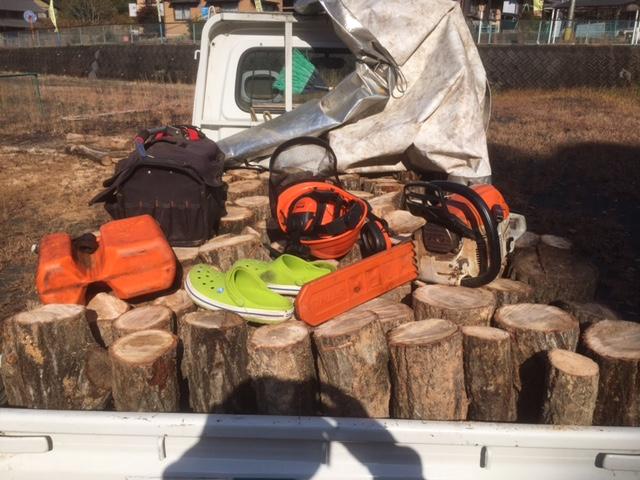 【原木入荷】原木を切ってきましたぜ