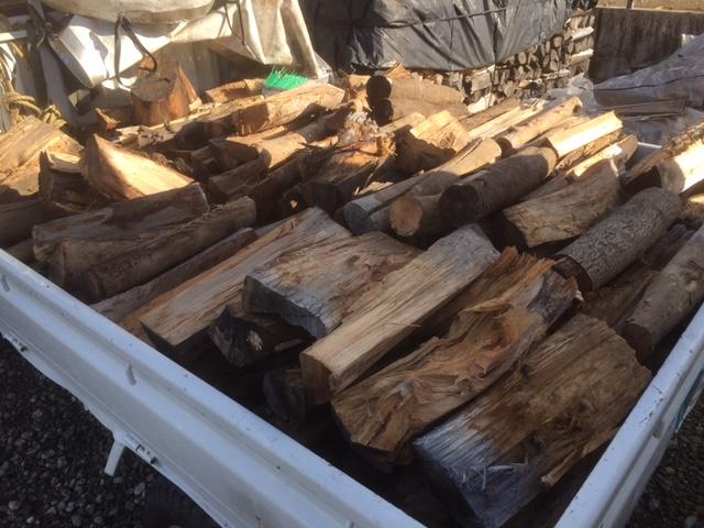 雑木薪納品