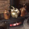薪ストーブ上のやかん3つの加湿効果
