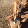 【薪作り】まだ本調子じゃないので、エンジン機をまだ動かせないので、毎朝焚き付けを作る日々。