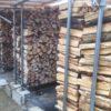 【薪友達の薪棚がスゴイ】用事があって、薪友達の土場にいきました。