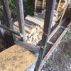 【薪棚修理】山の薪棚が破壊された・・・