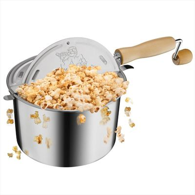 Great Northern グレートノーマン Popcorn Original Stainless Steel Stove Top 6-1 2-Quart Popcorn Popper