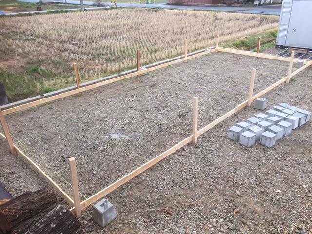 【乾燥薪の質向上】大型薪棚の制作 その1