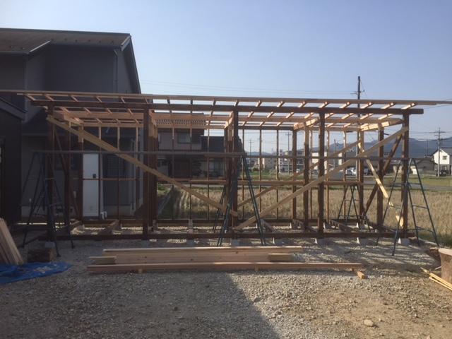【乾燥薪の質向上】大型薪棚の制作 その4