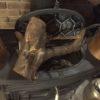 【癖薪】このまま乾燥しちゃった枝のついた薪
