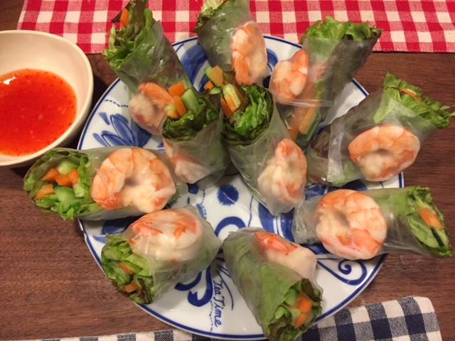 【ベトナム料理】生春巻きを作る。