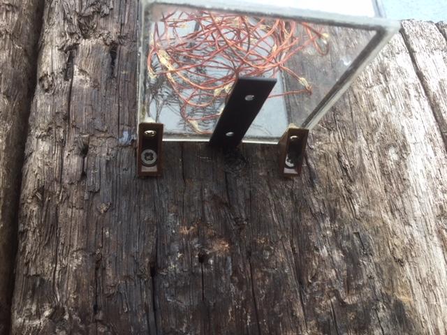 オシャレな門柱の灯り