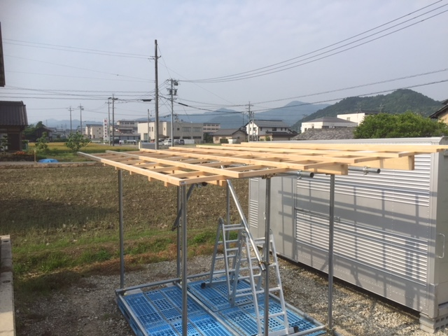 【単管パイプ薪棚】増設用薪棚づくり 其の4
