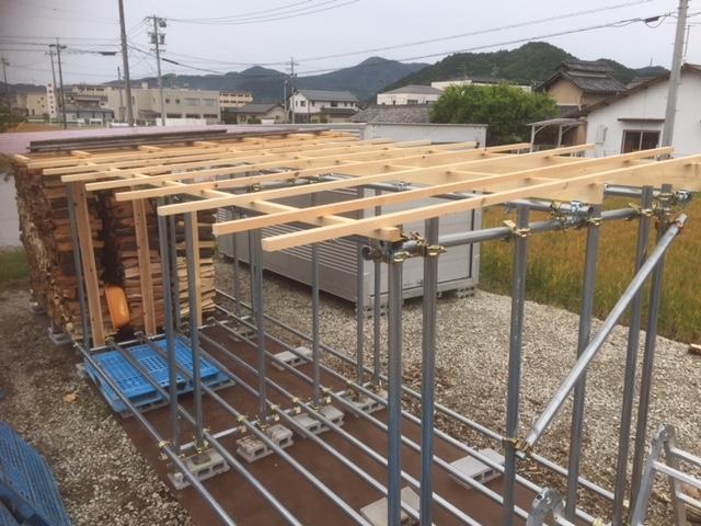 【単管パイプ薪棚】増設用薪棚づくり 其の12