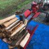 天気がよくなったので、朝から薪割り、ただ蒸し暑くてしんどい。