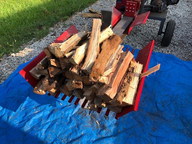 【薪づくり】朝から薪割り、なんとか盆前に終われるか?
