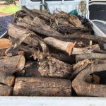 ハンパ薪をご近所の薪ストーブユーザーにさしあげる
