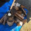 【キャンプの焚火用】サクラの薪を作成しました。