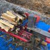【薪割り】朝から薪割り、天気がいいうちに割りまくる。