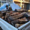 2年乾燥の雑木乾燥薪(主にサクラ)を納品準備