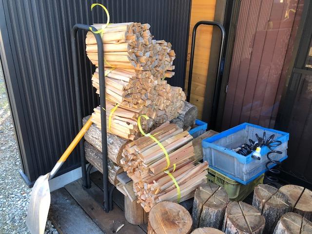 針葉樹を束にする