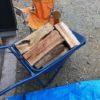 2年乾燥薪(太いやつ)の含水率を計る。