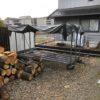 2年乾燥の焚き付け針葉樹の整理