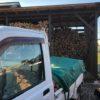 おそらく今シーズン最後の乾燥薪の納品