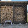 35cm薪を棚に積む。あれ、思ったよりも埋まらない。