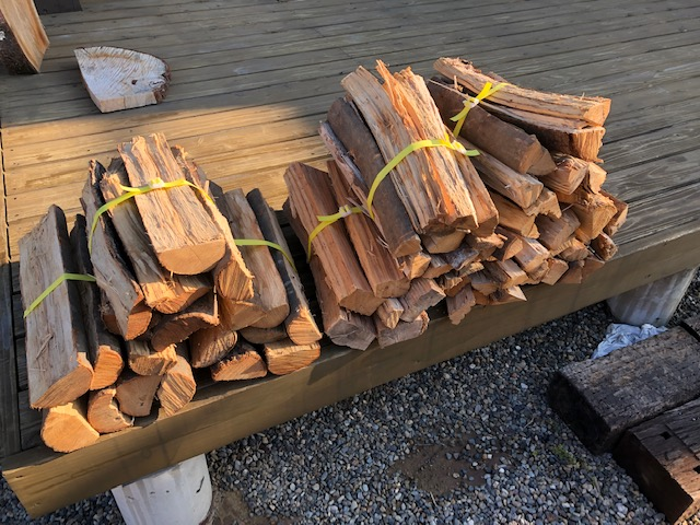 キャンプ用の薪商品を作る