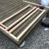 新しく簡易薪棚を作る