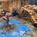 松の未乾燥薪のご依頼をいただきました。