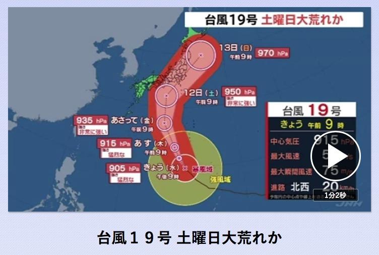 うわ、台風19号、薪棚大丈夫かな