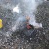 傷んだ玉も何もかも焚火してやった。