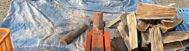 【自宅用薪】デッキのサクラを割る